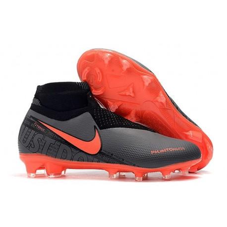 Nike Scarpini da Calcio Phantom Vision Elite FG Nero Rosso