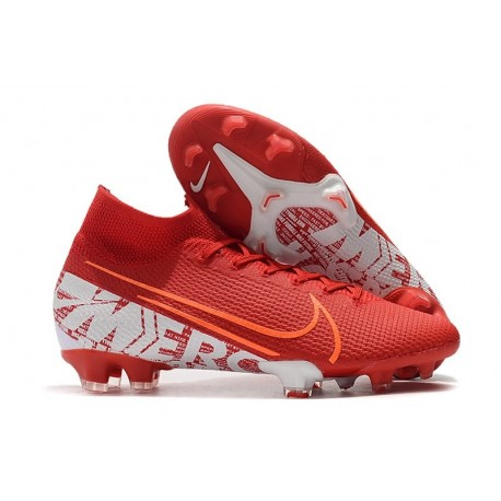 Scarpe Nike Mercurial Superfly VII Elite FG Rosso Bianco