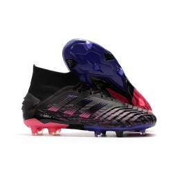 Scarpe adidas Predator 19+ FG Uomo Nero Blu Rosa