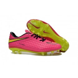 Scarpe Calcio Nuove Nike HyperVenom Phantom FG Rosa Giallo