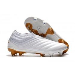 adidas Scarpe da Calcio Copa 19+ FG da Adulto - Bianco Oro