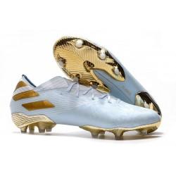 adidas Nemeziz 19.1 FG Scarpe Calcio Bianco Oro Metallico Light Aqua