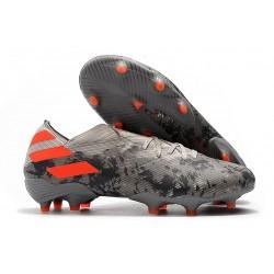 adidas Nemeziz 19.1 FG Scarpe Calcio Grigio Arancione Solar Gesso