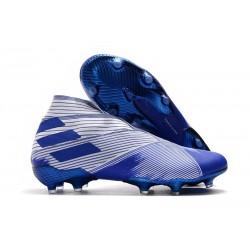 Scarpe Calcetto Adidas Nemeziz 19+ FG Bianco Blu