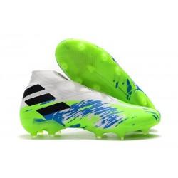 Scarpe Calcetto Adidas Nemeziz 19+ FG Bianco Verde Blu