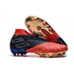 Scarpe Calcetto Adidas Nemeziz 19+ FG Spider-Man Rosso Nero