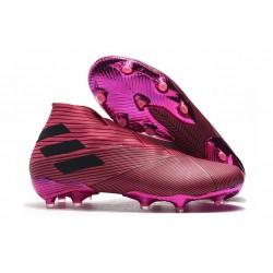 Scarpe Calcetto Adidas Nemeziz 19+ FG Rosa Nero
