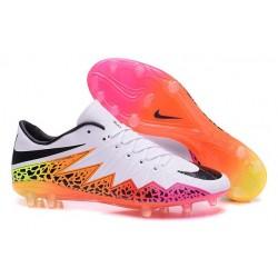 Scarpe Calcio Nike Hypervenom Phinish Tacchettatura FG Bianco Rosa Nero