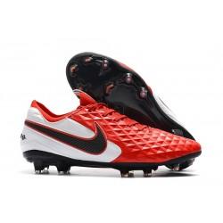 Scarpa Nuovo Nike Tiempo Legend VIII Elite FG Rosso Bianco Nero