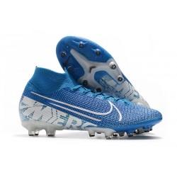 Scarpe Nike Mercurial Superfly 7 Elite AG-Pro Blu Bianco