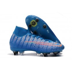 Nike Mercurial Superfly VII Elite SG-PRO AC Blu Rosso