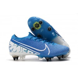 Nike Mercurial Vapor 13 Elite SG-Pro Anti Clog New Lights Blu Bianco