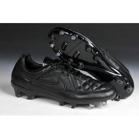 Scarpa da Calcio per Terreni Duri Nike Tiempo Legend V FG Tutto Nero
