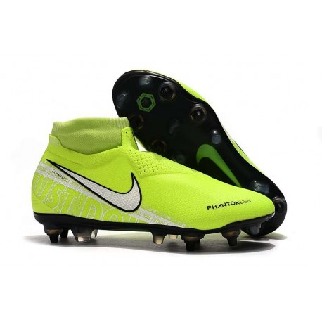 Nike Phantom Vision Elite DF Anti-Clog SG-PRO Volt Bianco