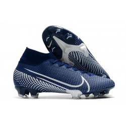 Nike Scarpa Mercurial Superfly 7 Elite SE FG Blu Bianco