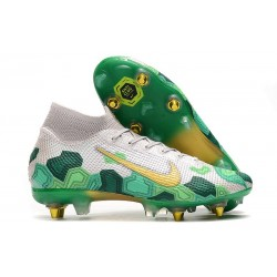 Nike Mercurial Superfly VII Elite SG-PRO AC Mbappe Bianco Verde Or