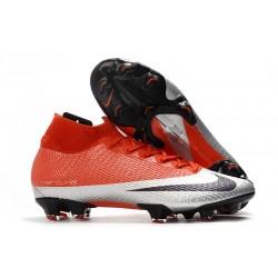 Scarpe Nike Mercurial Superfly VII Elite DF FG Future DNA Rosso Argento