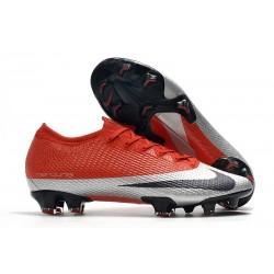 Nike Future DNA Mercurial Vapor 13 Elite FG Rosso Argento Nero