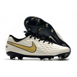 Scarpa Nuovo Nike Tiempo Legend VIII Elite FG Bianco Oro
