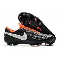 Scarpa Nuovo Nike Tiempo Legend VIII Elite FG Nero Arancione Bianco