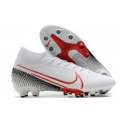 Scarpe Nike Mercurial Superfly 7 Elite AG-Pro Bianco Rosso