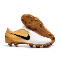 Scarpa Nuovo Nike Phantom Vnm Elite FG Bianco Oro Nero