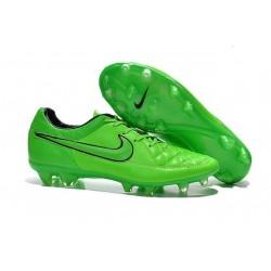 Scarpa da Calcio per Terreni Duri Nike Tiempo Legend V FG Verde Nero