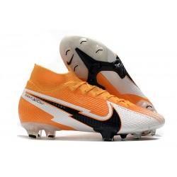 Scarpe Nike Mercurial Superfly VII Elite DF FG Arancione Laser Nero Bianco