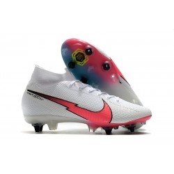 Nike Mercurial Superfly 7 Elite SG-PRO Anti-Clog Bianco Rosso