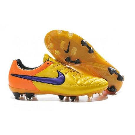 Nike Scarpe Calcio Tiempo Legend 5 FG Canguro Arancio Giallo Viola