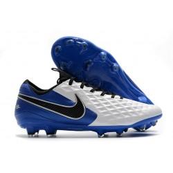 Nike Tiempo Legend 8 Elite FG ACC Scarpe Bianco Blu Nero
