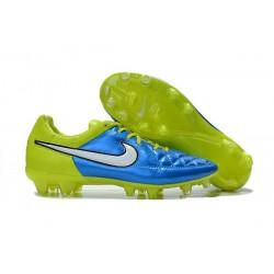 Nike Scarpe Calcio Tiempo Legend 5 FG Canguro Blu Volt Bianco