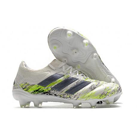 adidas Scarpe da Calcio Copa 20.1 FG Bianco Nero Core Verde Signal