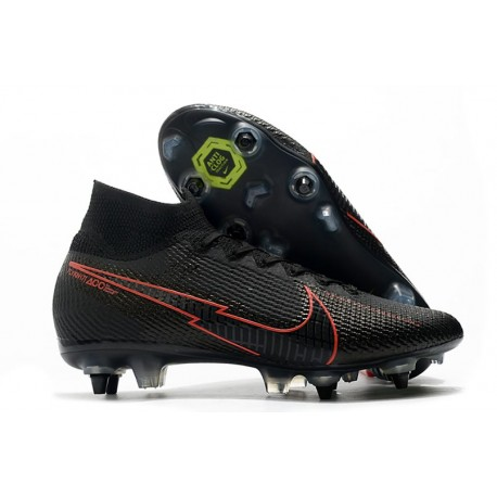 Nike Mercurial Superfly 7 Elite SG-PRO Anti-Clog Nero Rosso