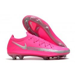 Nike Phantom GT Elite FG 2021 Scarpa da Calcio Rosa Argento
