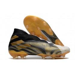 Adidas Scarpa Calcio Nemeziz 19+ FG - Bianco Oro Metallico Nero Core