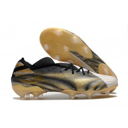 adidas Nemeziz 19.1 FG Scarpe Calcio Bianco Oro Metallico Nero Core
