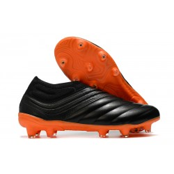 Scarpa adidas Copa 20+ FG da Uomo - Nero Arancio