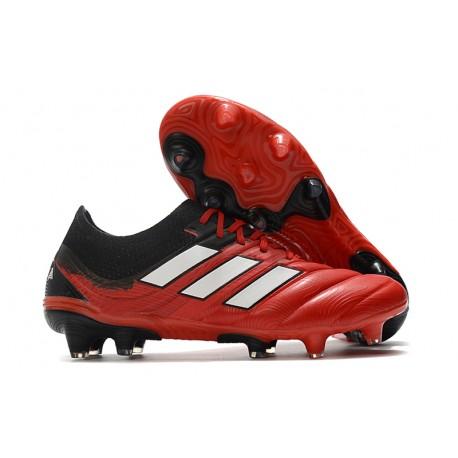adidas Scarpe da Calcio Copa 20.1 FG Nero Rosso Bianco