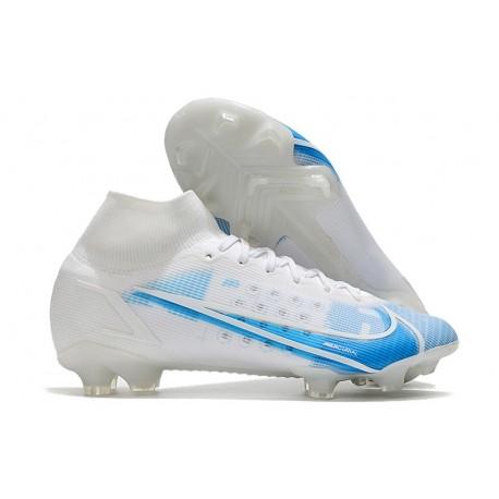 Nike Mercurial Superfly VIII Elite FG Uomo Bianco Azul