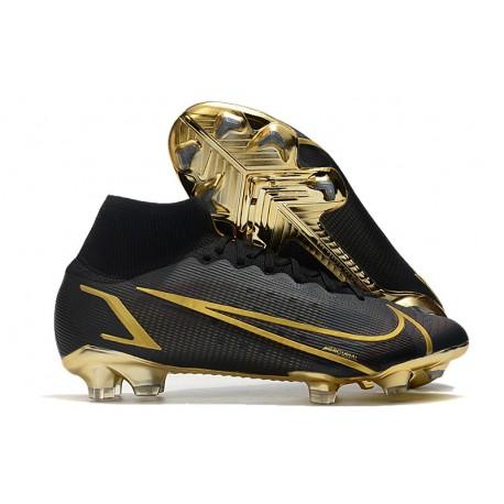 Nuovo Nike Mercurial Superfly 8 Elite FG Negro Oro
