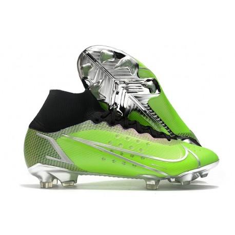 Nike Mercurial Superfly VIII Elite FG Uomo Verde Argento