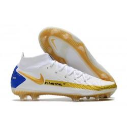 Scarpe Nike Phantom GT Elite DF FG Blanco Oro Blu
