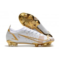 Nike Mercurial Vapor 14 Elite FG scarpa da calcio uomo Bianco Oro