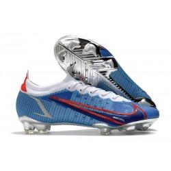 Nike Mercurial Vapor 14 Elite FG scarpa da calcio Bleu Rosso Argento