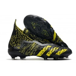 adidas Predator Freak+ FG Scarpe da Calcio Nero Giallo