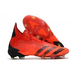 adidas Predator Freak+ FG Scarpe da Calcio Rosso Nero Core Rosso Solare