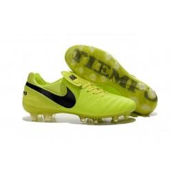 Scarpe da Calcio Nuovo 2016 Nike Tiempo Legend VI FG Pelle Volt Nero