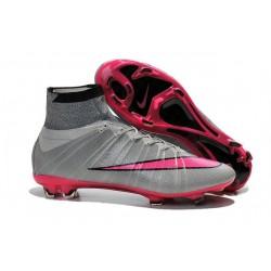 Nike Scarpa da Calcio Nuovo Mercurial Superfly FG Cristiano Ronaldo Grigio Rosa