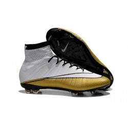 Ronaldo Scarpa Nike Mercurial Superfly CR501 FG Bianco Oro